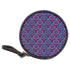 African Fabric Flower Purple Classic 20 Cd Wallets