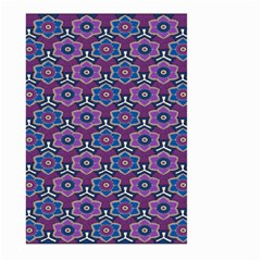 African Fabric Flower Purple Large Garden Flag (two Sides)