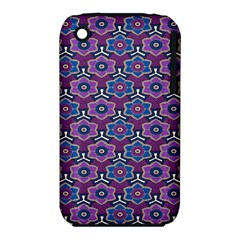 African Fabric Flower Purple Iphone 3s/3gs