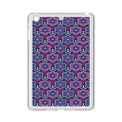 African Fabric Flower Purple Ipad Mini 2 Enamel Coated Cases