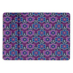 African Fabric Flower Purple Samsung Galaxy Tab 10 1  P7500 Flip Case
