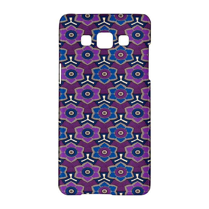 African Fabric Flower Purple Samsung Galaxy A5 Hardshell Case