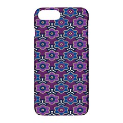 African Fabric Flower Purple Apple Iphone 7 Plus Hardshell Case