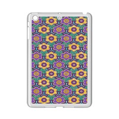 African Fabric Flower Green Purple Ipad Mini 2 Enamel Coated Cases