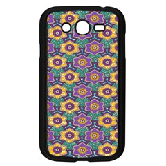 African Fabric Flower Green Purple Samsung Galaxy Grand Duos I9082 Case (black)
