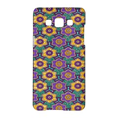 African Fabric Flower Green Purple Samsung Galaxy A5 Hardshell Case