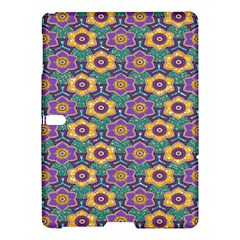African Fabric Flower Green Purple Samsung Galaxy Tab S (10 5 ) Hardshell Case