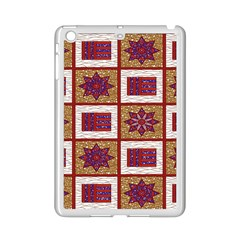 African Fabric Star Plaid Gold Blue Red Ipad Mini 2 Enamel Coated Cases