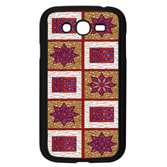 African Fabric Star Plaid Gold Blue Red Samsung Galaxy Grand Duos I9082 Case (black) by Alisyart