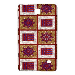 African Fabric Star Plaid Gold Blue Red Samsung Galaxy Tab 4 (8 ) Hardshell Case