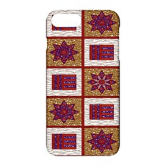 African Fabric Star Plaid Gold Blue Red Apple Iphone 7 Plus Hardshell Case