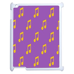Eighth Note Music Tone Yellow Purple Apple Ipad 2 Case (white) by Alisyart