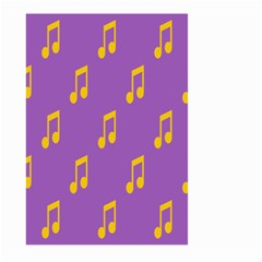 Eighth Note Music Tone Yellow Purple Large Garden Flag (two Sides)