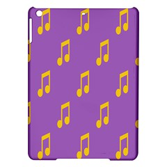 Eighth Note Music Tone Yellow Purple Ipad Air Hardshell Cases by Alisyart