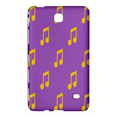 Eighth Note Music Tone Yellow Purple Samsung Galaxy Tab 4 (7 ) Hardshell Case  by Alisyart