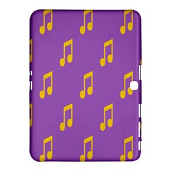 Eighth Note Music Tone Yellow Purple Samsung Galaxy Tab 4 (10 1 ) Hardshell Case  by Alisyart