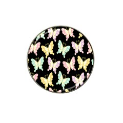 Butterfly Fly Gold Pink Blue Purple Black Hat Clip Ball Marker (4 Pack)
