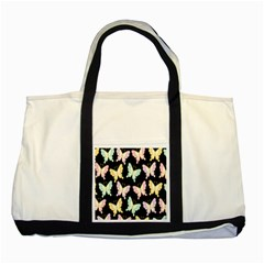 Butterfly Fly Gold Pink Blue Purple Black Two Tone Tote Bag
