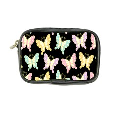 Butterfly Fly Gold Pink Blue Purple Black Coin Purse