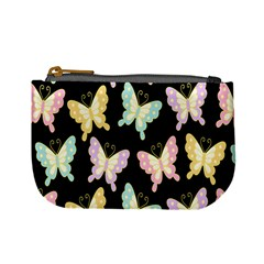 Butterfly Fly Gold Pink Blue Purple Black Mini Coin Purses