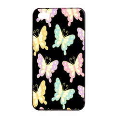 Butterfly Fly Gold Pink Blue Purple Black Apple Iphone 4/4s Seamless Case (black) by Alisyart