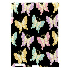 Butterfly Fly Gold Pink Blue Purple Black Apple Ipad 3/4 Hardshell Case (compatible With Smart Cover) by Alisyart