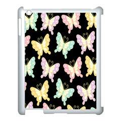 Butterfly Fly Gold Pink Blue Purple Black Apple Ipad 3/4 Case (white)