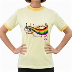 Color Music Notes Women s Fitted Ringer T-shirts by Alisyart