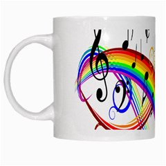 Color Music Notes White Mugs