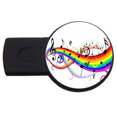 Color Music Notes Usb Flash Drive Round (2 Gb) by Alisyart