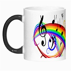 Color Music Notes Morph Mugs