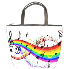 Color Music Notes Bucket Bags