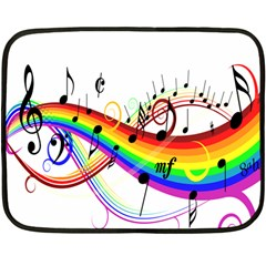 Color Music Notes Double Sided Fleece Blanket (mini)  by Alisyart