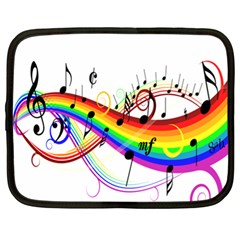 Color Music Notes Netbook Case (xl)  by Alisyart