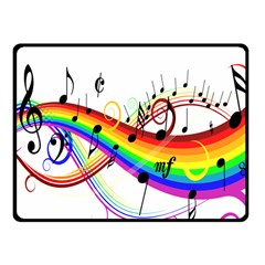 Color Music Notes Fleece Blanket (small)