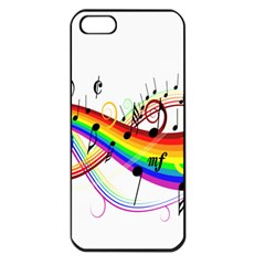 Color Music Notes Apple Iphone 5 Seamless Case (black)