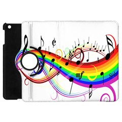 Color Music Notes Apple Ipad Mini Flip 360 Case