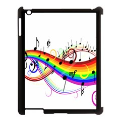Color Music Notes Apple Ipad 3/4 Case (black)