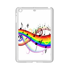 Color Music Notes Ipad Mini 2 Enamel Coated Cases