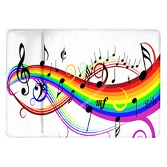 Color Music Notes Samsung Galaxy Tab 10 1  P7500 Flip Case