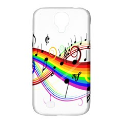 Color Music Notes Samsung Galaxy S4 Classic Hardshell Case (pc+silicone) by Alisyart