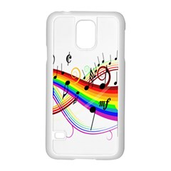 Color Music Notes Samsung Galaxy S5 Case (white)