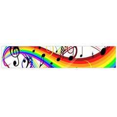 Color Music Notes Flano Scarf (large) by Alisyart