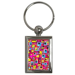 File Digital Disc Red Yellow Rainbow Key Chains (rectangle)  by Alisyart