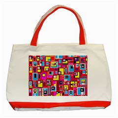 File Digital Disc Red Yellow Rainbow Classic Tote Bag (red)