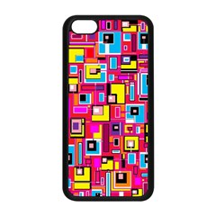File Digital Disc Red Yellow Rainbow Apple Iphone 5c Seamless Case (black)