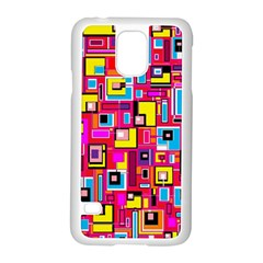 File Digital Disc Red Yellow Rainbow Samsung Galaxy S5 Case (white)