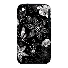 Floral Flower Rose Black Leafe Iphone 3s/3gs by Alisyart