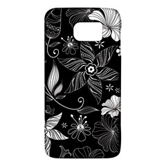 Floral Flower Rose Black Leafe Galaxy S6 by Alisyart