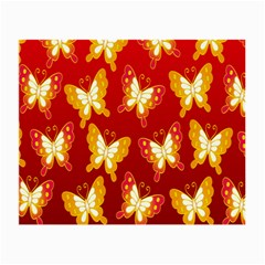 Butterfly Gold Red Yellow Animals Fly Small Glasses Cloth (2 Side)
